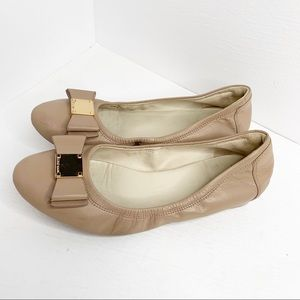 Cole Haan Tali Bow Leather Ballet Flat
